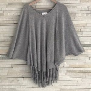 Velvet by Graham & Spencer Cashmere fringe poncho